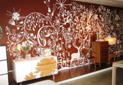 Трафареты для покраски стен фото