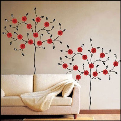Новогодние украшения стен дома своими руками